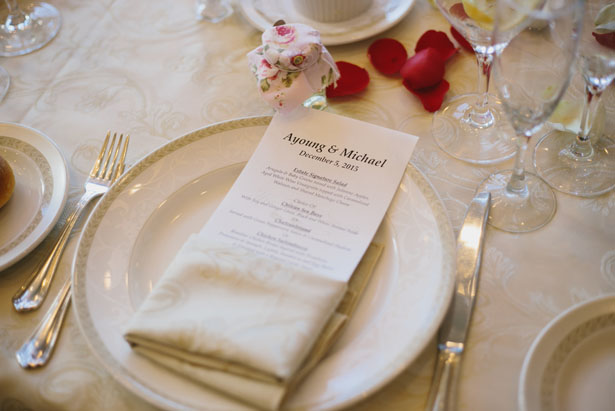 Wedding place setting - OLLI STUDIO