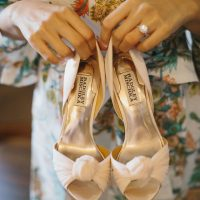 White wedding heels - OLLI STUDIO