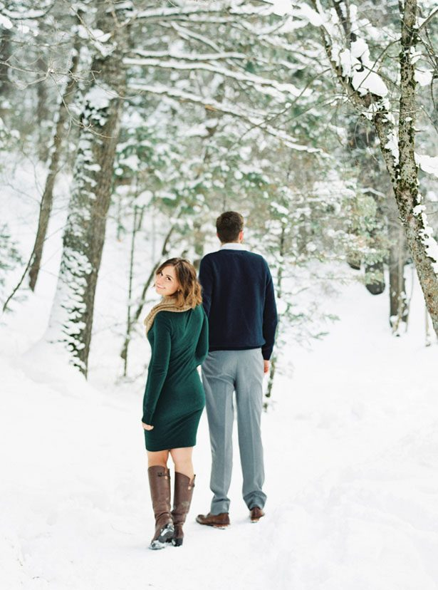 Winter engagement portrait ideas - Mallory Renee Photography