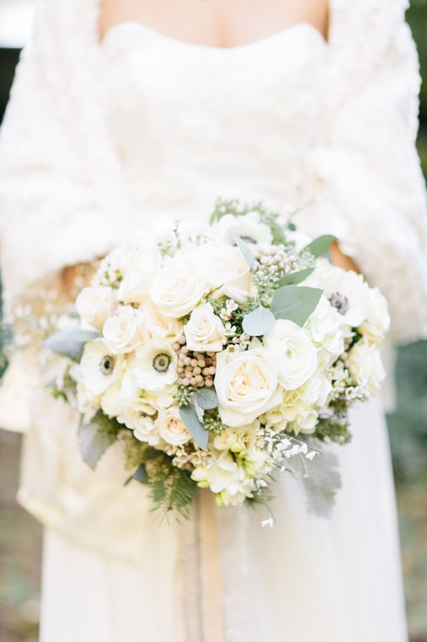 Winter wedding bouquet - Jennifer Fujikawa Photography
