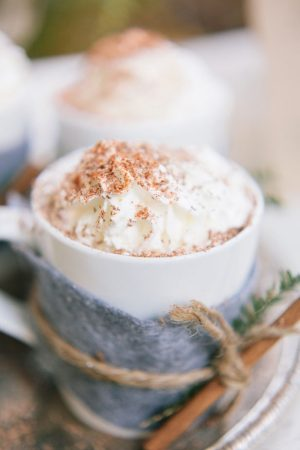 Winter wedding drinks - Jennifer Fujikawa Photography
