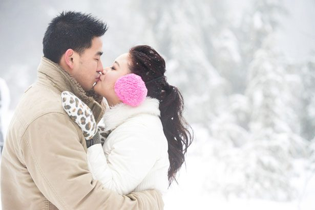 The Prettiest Snow Storm Engagement Session
