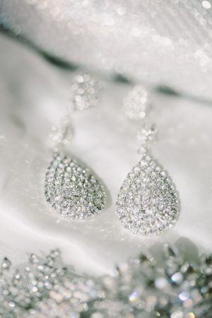 Bridal earrings - Jennifer Van Elk Photography