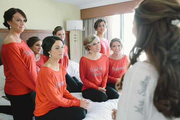 Bridesmaid shirts - Jennifer Van Elk Photography