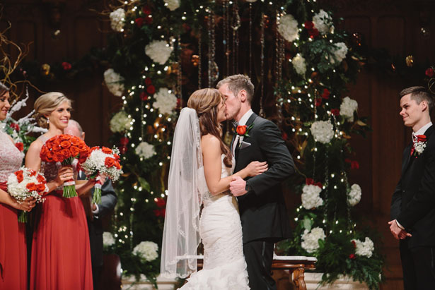 First bride and groom kiss - Jennifer Van Elk Photography