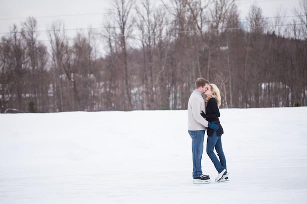 Ice Skating Engagement Picture Ideas - Wren Photography