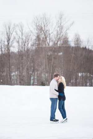 Ice Skating Engagement Session - Wren Photography
