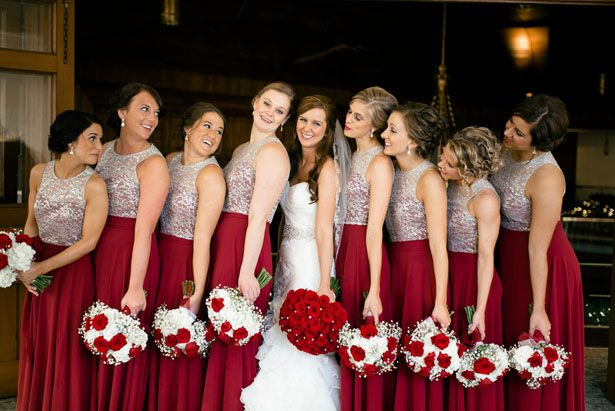 Red bridal dresses - Jennifer Van Elk Photography