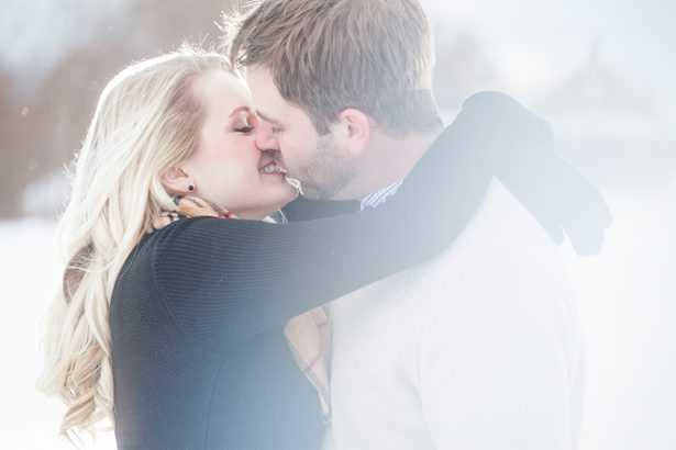 Ice Skating and Snowball Fight  Engagement Session
