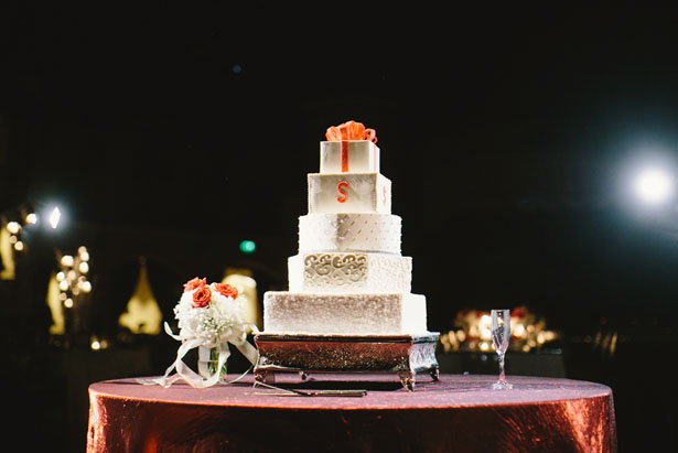 Tall wedding cake - Jennifer Van Elk Photography