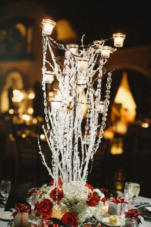 Tall wedding centerpiece - Jennifer Van Elk Photography