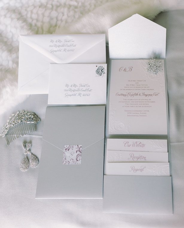 Wedding invitation suite - Jennifer Van Elk Photography