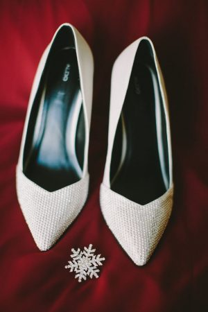White bridal heels - Jennifer Van Elk Photography