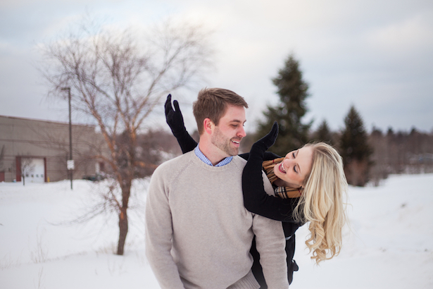 Winter Engagement Photo - Wren Photography