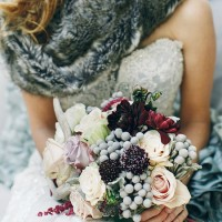 Winter Wedding Bouquet - Photography by Charise