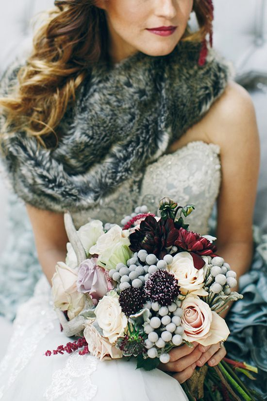 Winter Wedding Bouquets - Photography by Charise