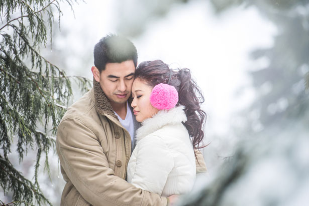 Winter engagement - L'Estelle Photography