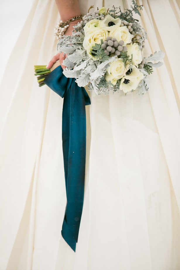 Beautiful winter wedding bouquet - Erin Johnson Photography