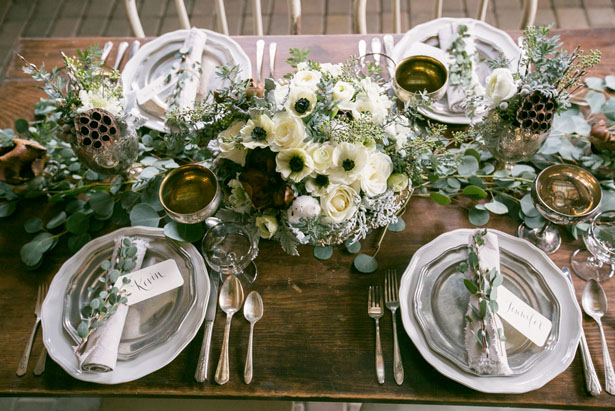 Beautiful winter tablescape - Erin Johnson Photography