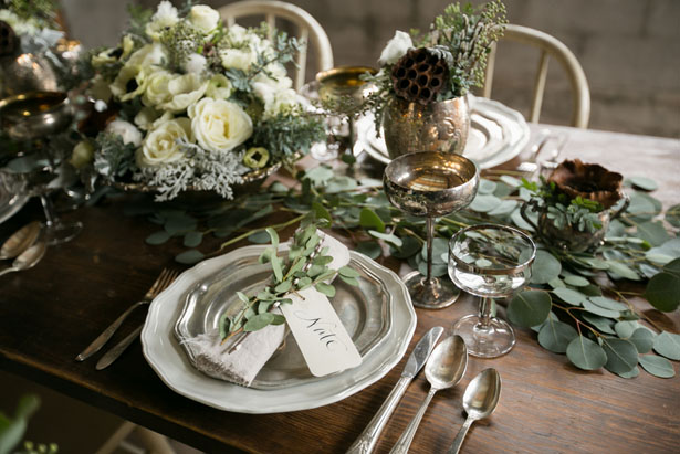 Beautiful wedding table setting - Erin Johnson Photography