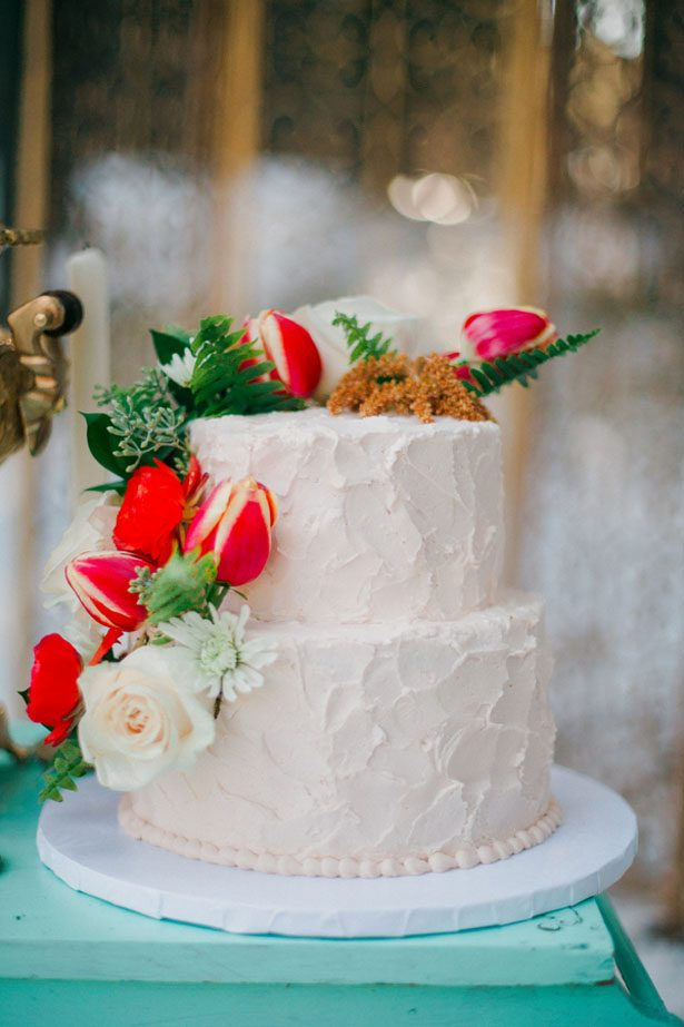 Winter Wedding cake - Julli Anna photography