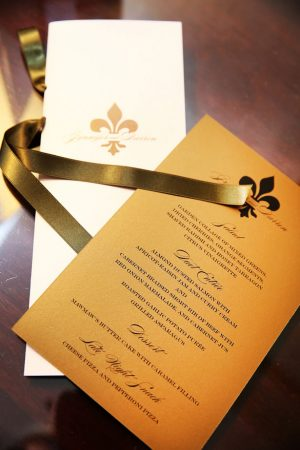 Gold wedding invitations - BLUE MARTINI PHOTOGRAPHY