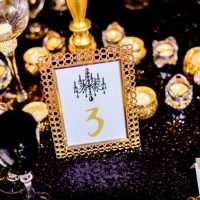 Gold wedding table number ideas - Kirth Bobb Photography