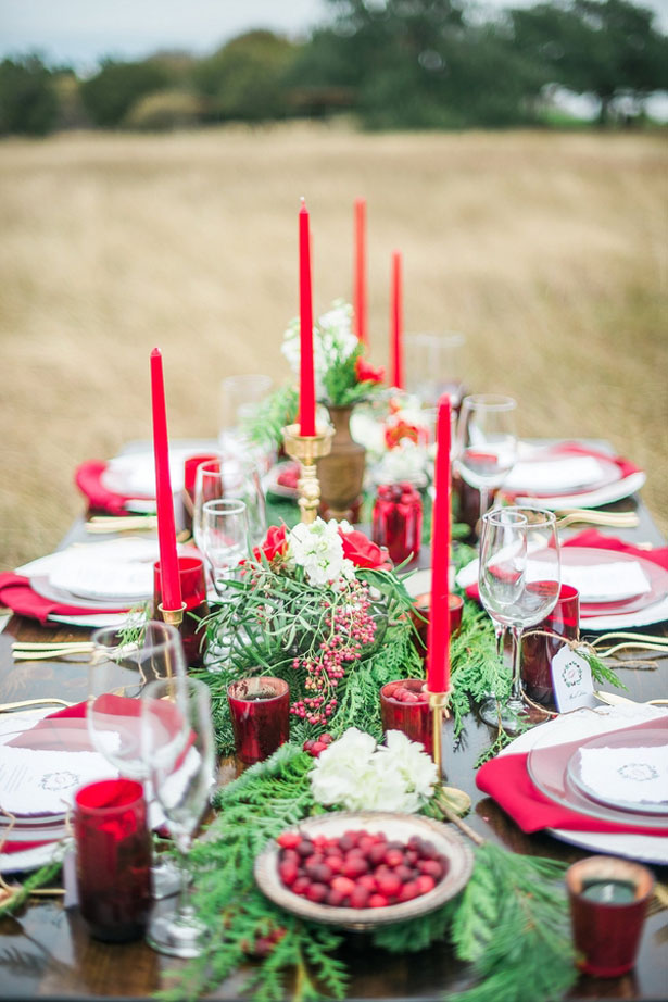 Holiday inspired tablescape - Dani Cowan Photography