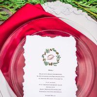 Holiday weeding menu - Dani Cowan Photography