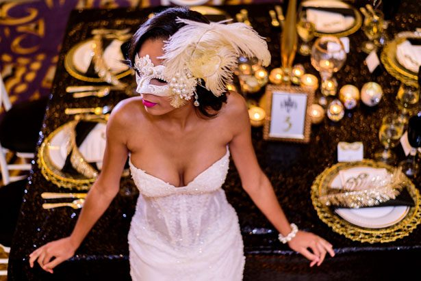 Masquerade glam bride - Kirth Bobb Photography