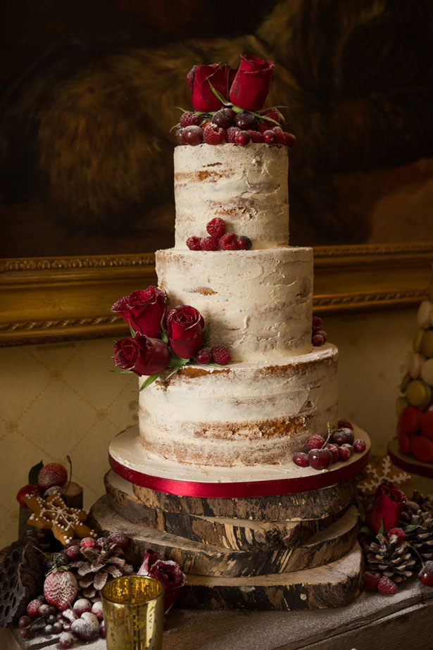 Naked wedding cake - Cameo Photography