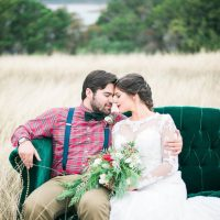 Outdoor romantic wedding photo - Dani Cowan Photography