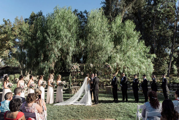 Garden wedding ceremony - William Innes Photography