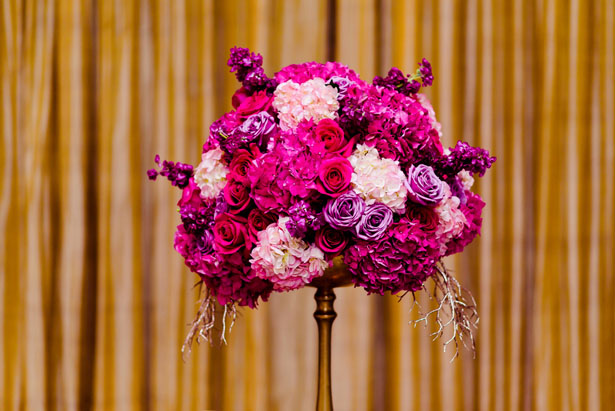 Pink flora wedding centerpiece - Kirth Bobb Photography