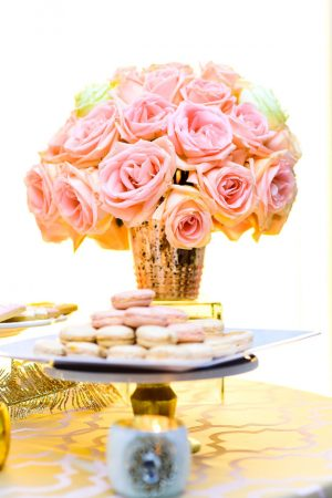 Pink wedding centerpiece - Kirth Bobb Photography