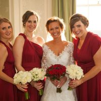 Red bridesmaid dresses - Cameo Photography