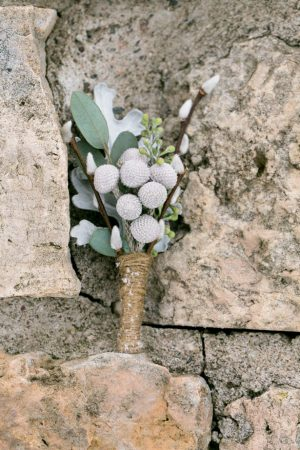 Rustic wedding boutonnier - Erin Johnson Photography