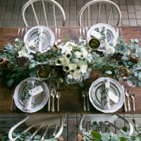 Rustic wedding table setting ideas - Erin Johnson Photography