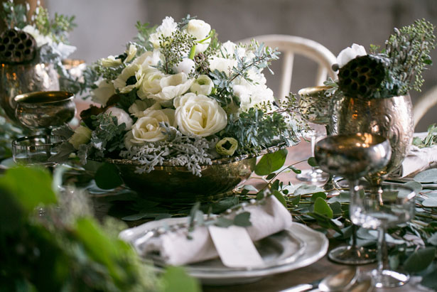 Short wedding centerpiece - Erin Johnson Photography