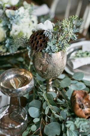 Vintage wedding glasses - Erin Johnson Photography