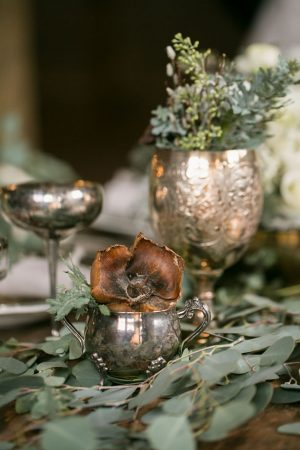 Vintage wedding table details - Erin Johnson Photography