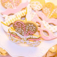 Wedding masquerade cookie ideas - Kirth Bobb Photography