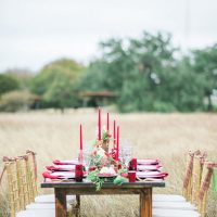 Wedding table arrangement - Dani Cowan Photography
