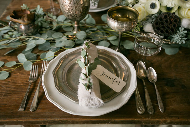 Rustic Wedding place setting - Erin Johnson Photography