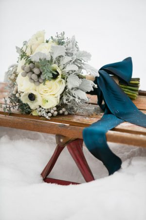Winter wedding bouquet - Erin Johnson Photography
