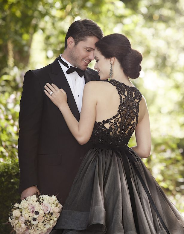 Add Drama to your Bridal Look with These Edgy Black Wedding Dresses