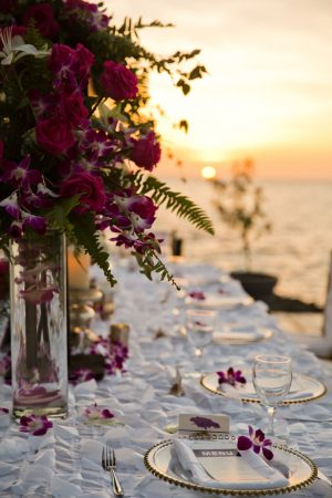 Beach wedding table-scape - Manuela Stefan Photography