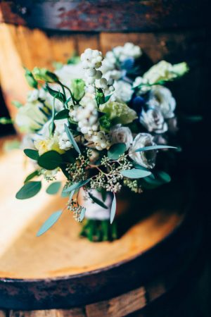 White Wedding bouquet - Derek Halkett Photography