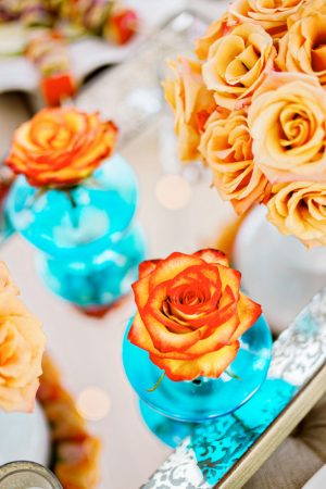Beautiful orange wedding flowers - Andie Freeman Photography