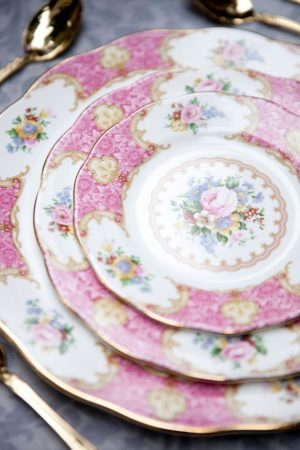 Beautiful vintage wedding plates - Claudia McDade Photography